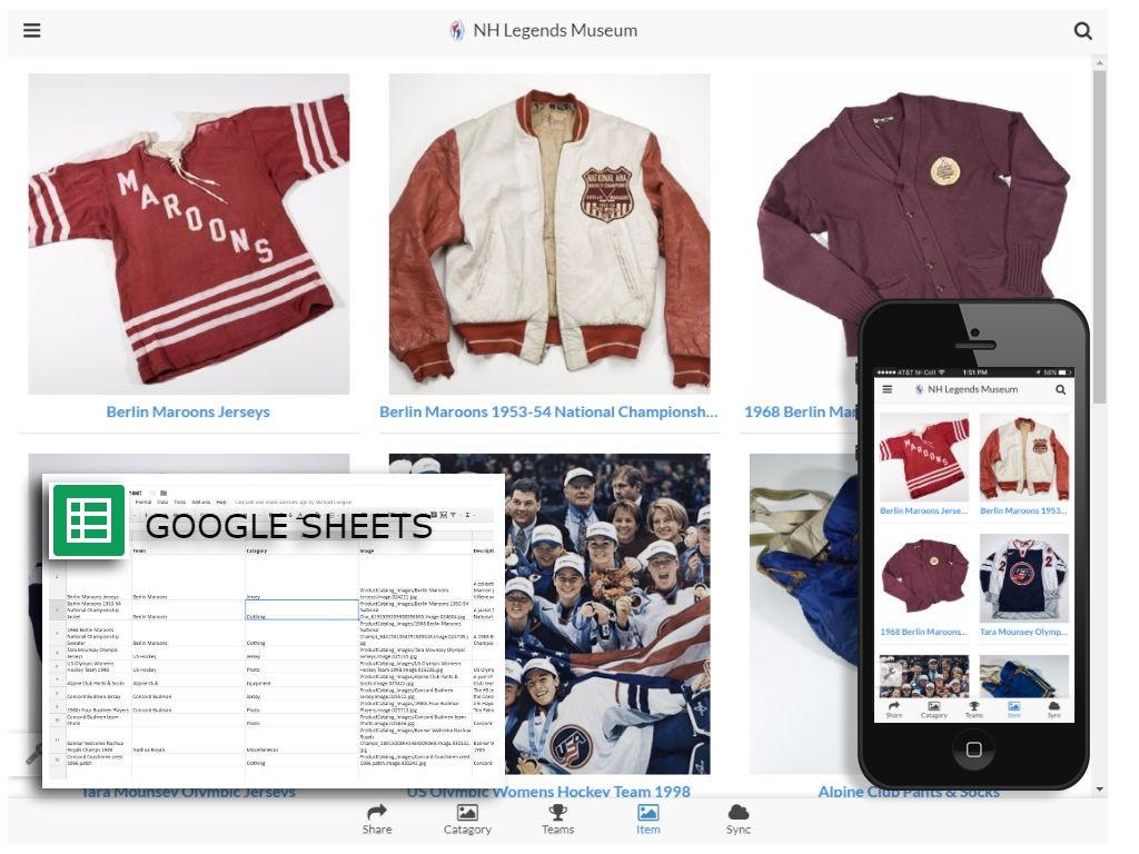 Mobile App Using Google Sheets