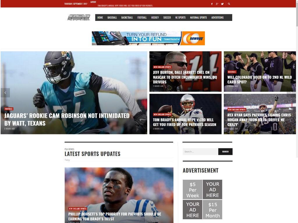 Pro Sports Media Blog