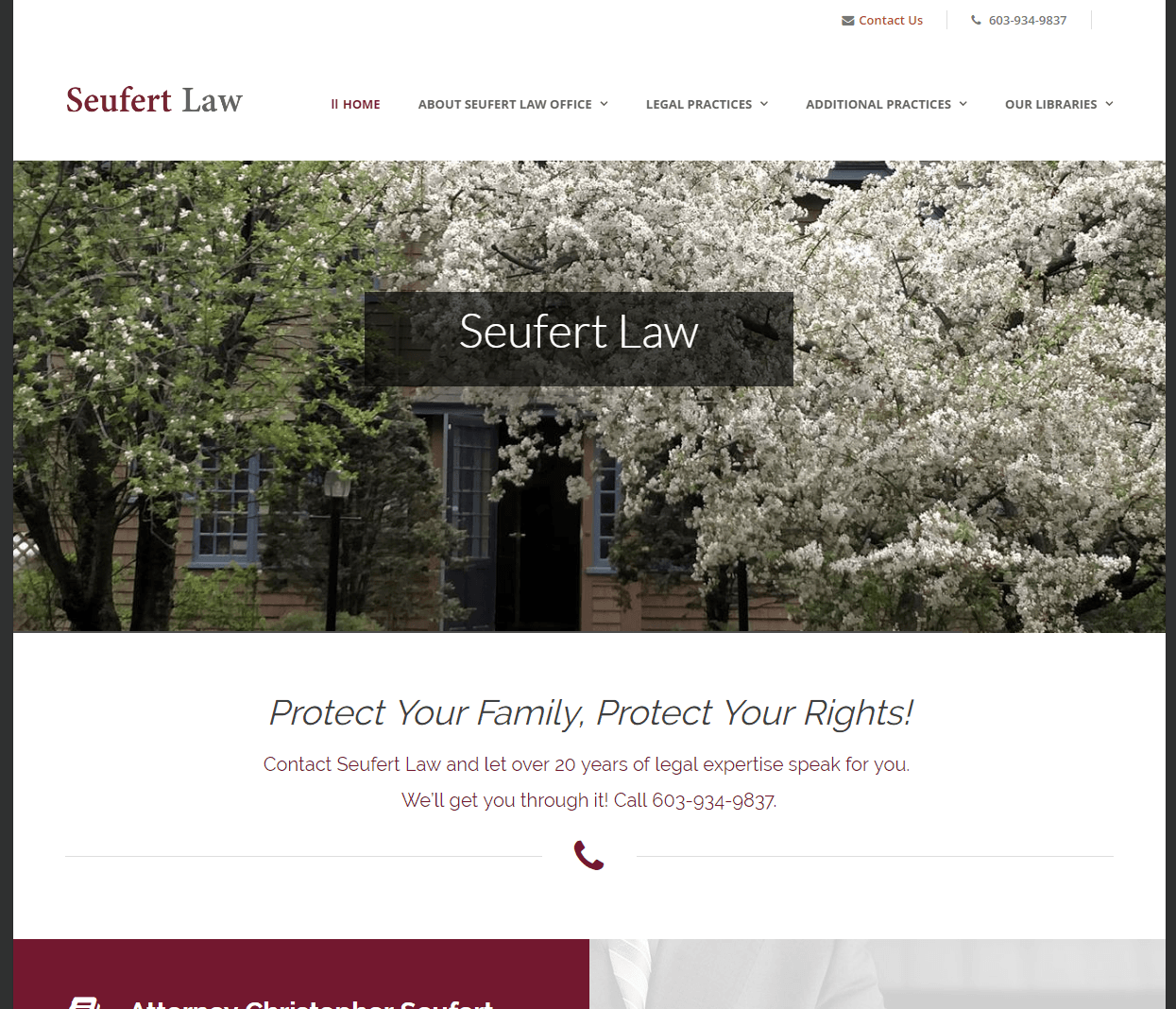 Seufert Law Homepage